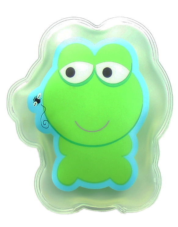 Factory all kinds of cartoon spring frog cold pack shape microwave gel hot cold packs