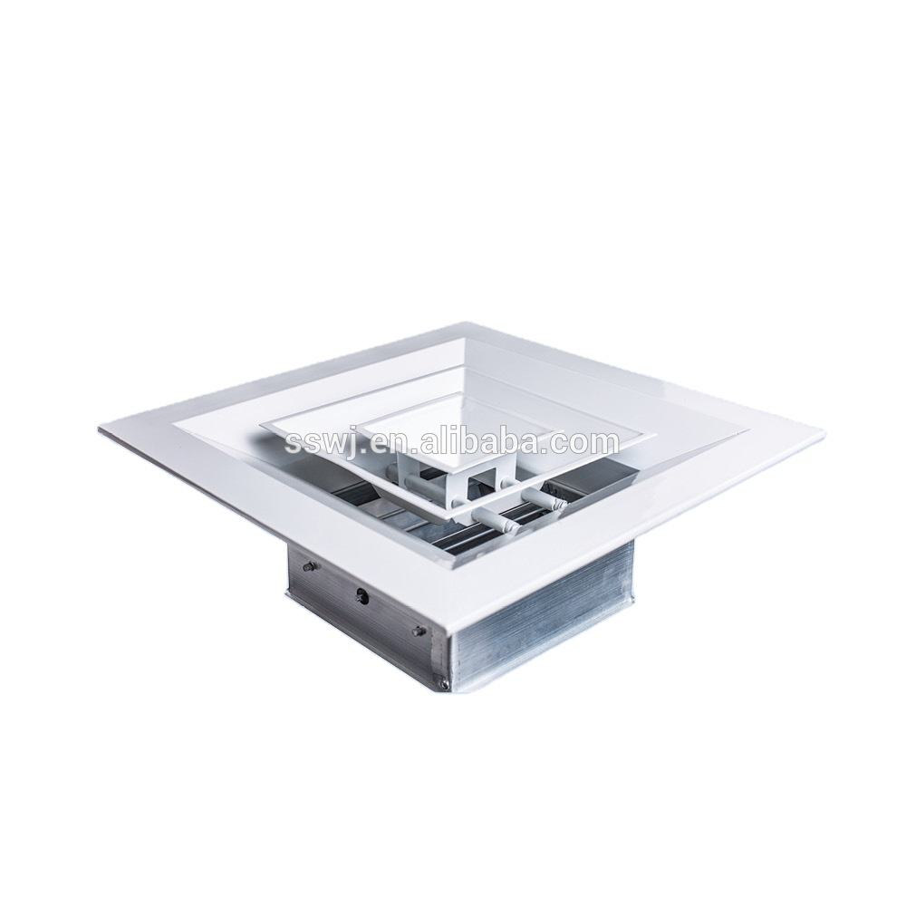 aluminum square air diffuser with damper