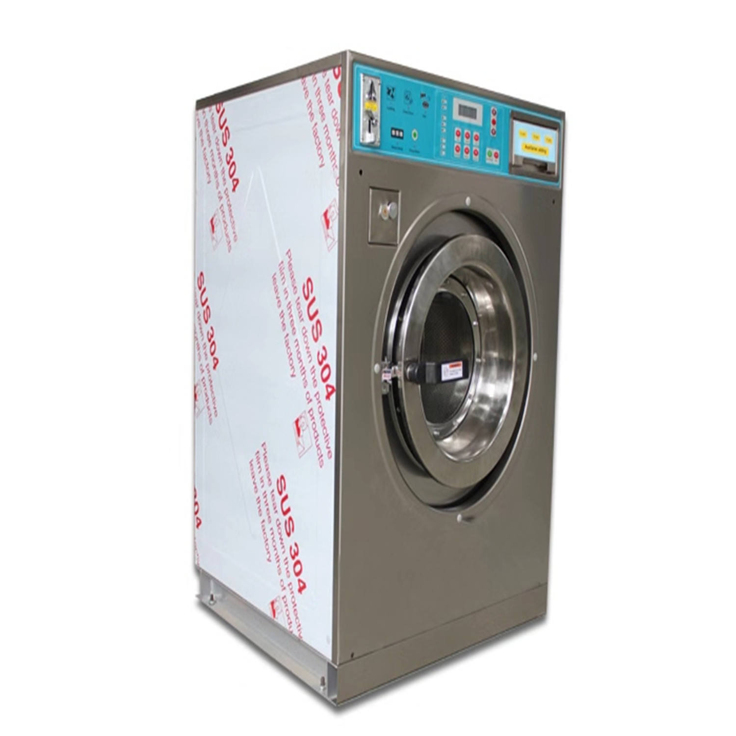 12kg 15kg laundry self-service tokens coin washing machine coin operated washing machine