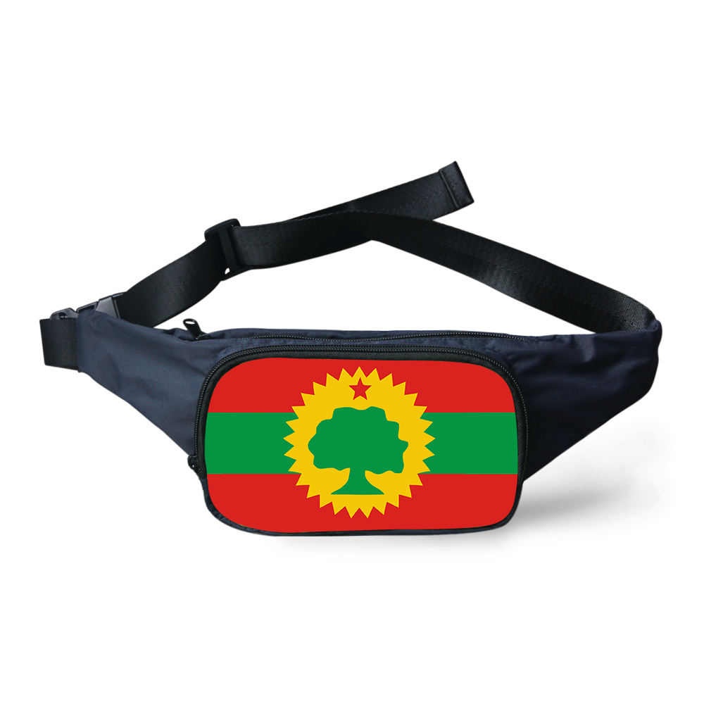 Flag Of The Oromo Flags Pattern Waist Pack Bag Men Women Canvas Bag Belt Casual Belt Pouch Female Travel Banana Bags Men Fanny