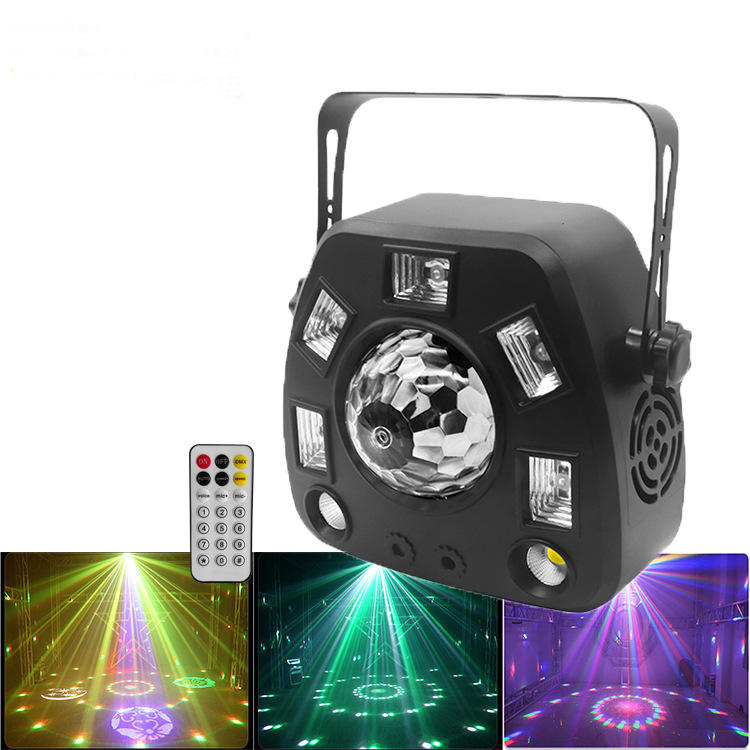 Grace RGBW LED Magic Ball Logo Strobe Laser 4in1 Dmx512 Remote Stage Disco Party Light