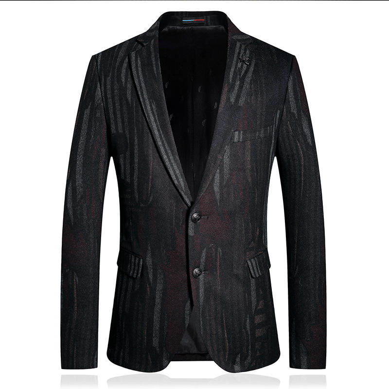 Real Picture 2020 Summer 1 Piece Casual Men Suits With Black Line Single Breasted Slim for Men