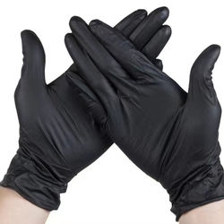 Factory Direct sales latex disposable Black Nitrile Gloves