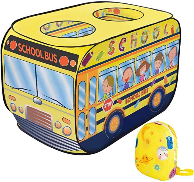 School Bus Two Kids Car Shape Play House Large Size Indoor Play Tent