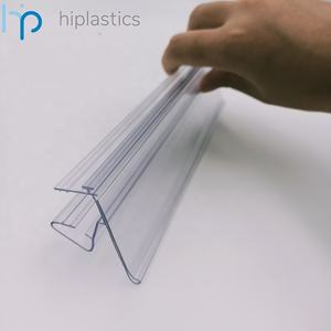 Hiplastics Clear Plastic Data Strip Display Label Houder Met T-Rail Voor Supermarkt Glas Plank