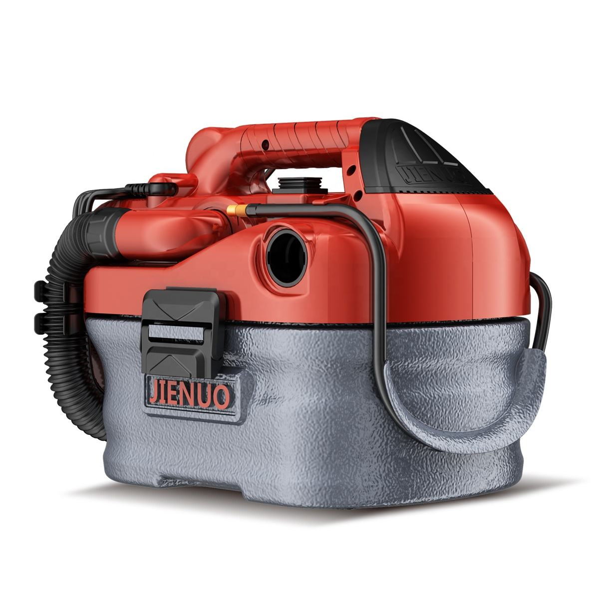 JIENUO 4 Gallon battery Wet Dry Vacuum, 4 Peak HP Stainless Steel 3 in 1 Shop Vac Blower with Powerful Suction
