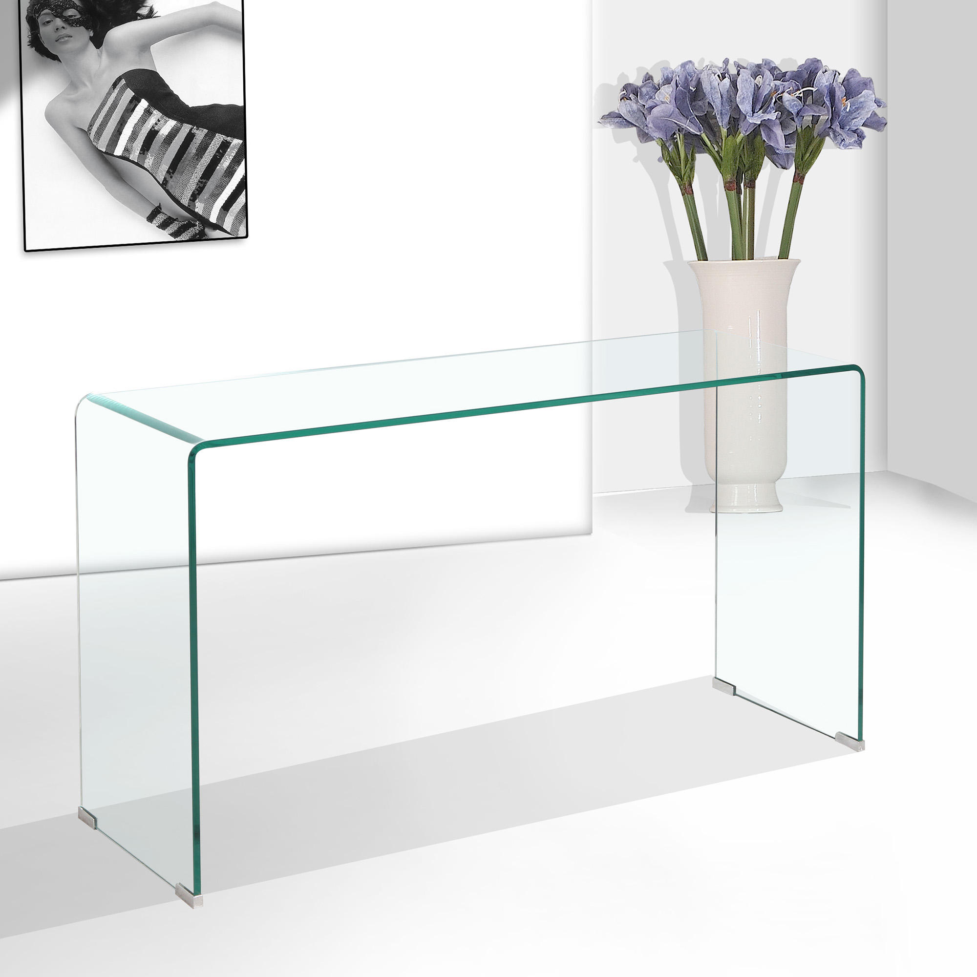 Glass Antique Console Table Furniture Modern Luxury Living Room Table Console