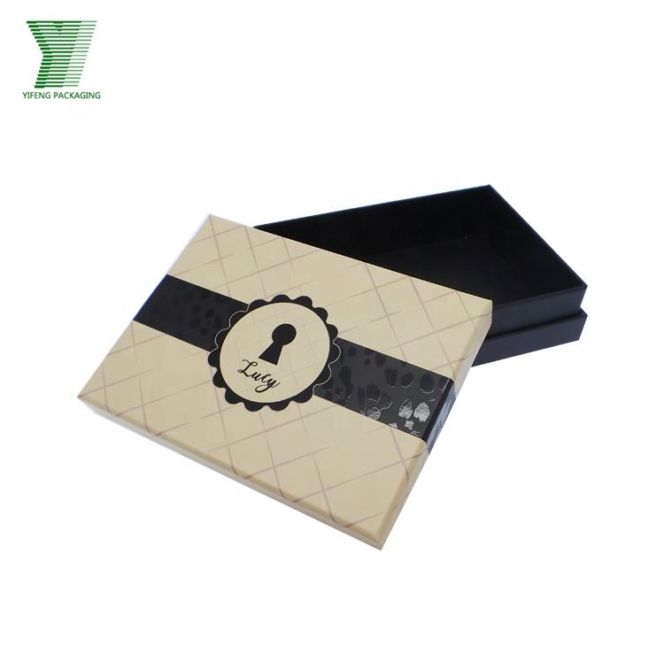 Navy Blue Custom Printing 2 Pieces Hat Packaging with Lid Cosmetic Luxury Scarf Packaging Box