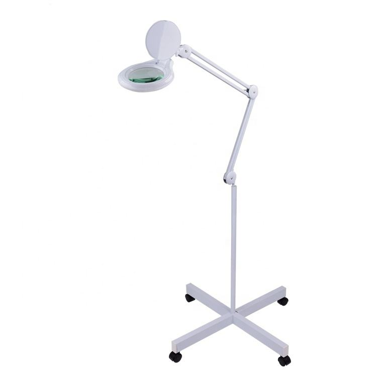 Adjustable Magnifier Lamp Light Magnifying Glass Magnifying Lamp on wheels