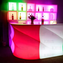 party nightclub furniture bar table illuminated plastic led bar counter