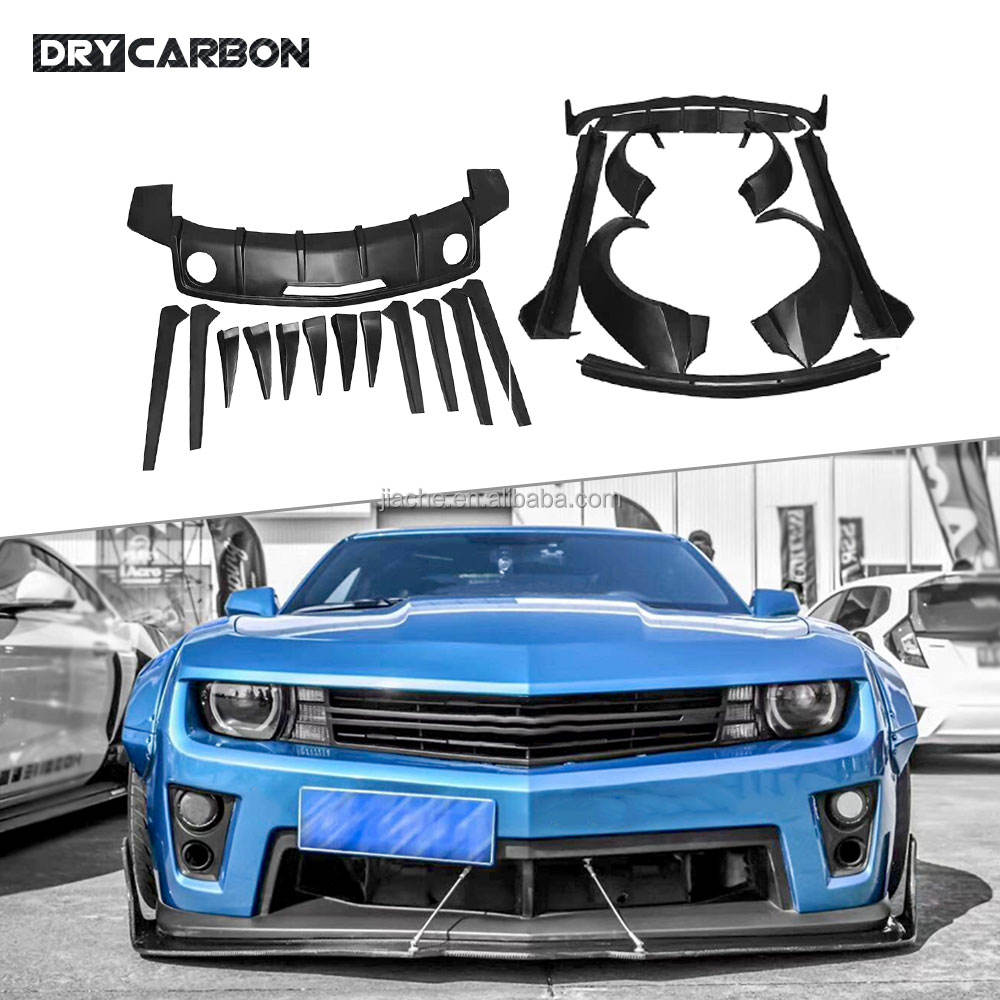 High quality FRP Front Rear Bumper Lip Side Skirts Spoiler Canards Apron for Chevrolet Camaro 2012-2016 M Wide Body Kits