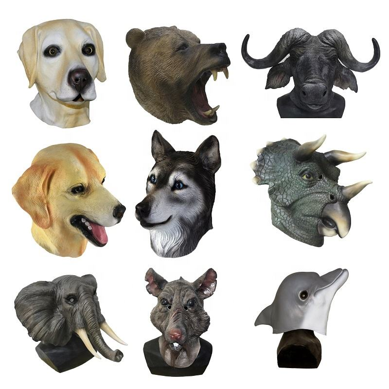 Realistic animal mask custom latex famous horse mask various colors