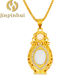 JINPINHUI jewelry gold-plated inlaid Hetian jasper pendant for woman