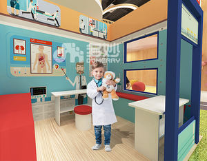 kid used role play police station house preschool education indoor carton wooden furniture kids wooden playhouse