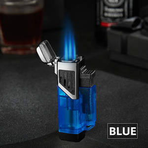 Portable Plastic Cigar Lighter Torch Jet Refillable Butane Gas Cigars Lighters Accessories for camping