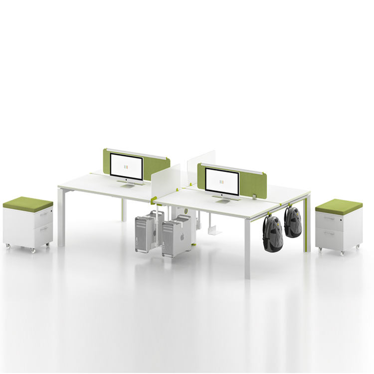 Factory Provide OEM Modern Design Office Desk Linear 4 Seater Office Workstations For Open Office