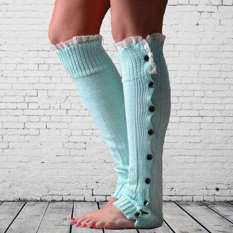 Fall Winter Christmas Warm Leg warmers Knit Knee High Leg Warmer For Woman And Adult Girls
