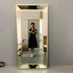 Large size wall dressing  mirror Door mirror gold customized