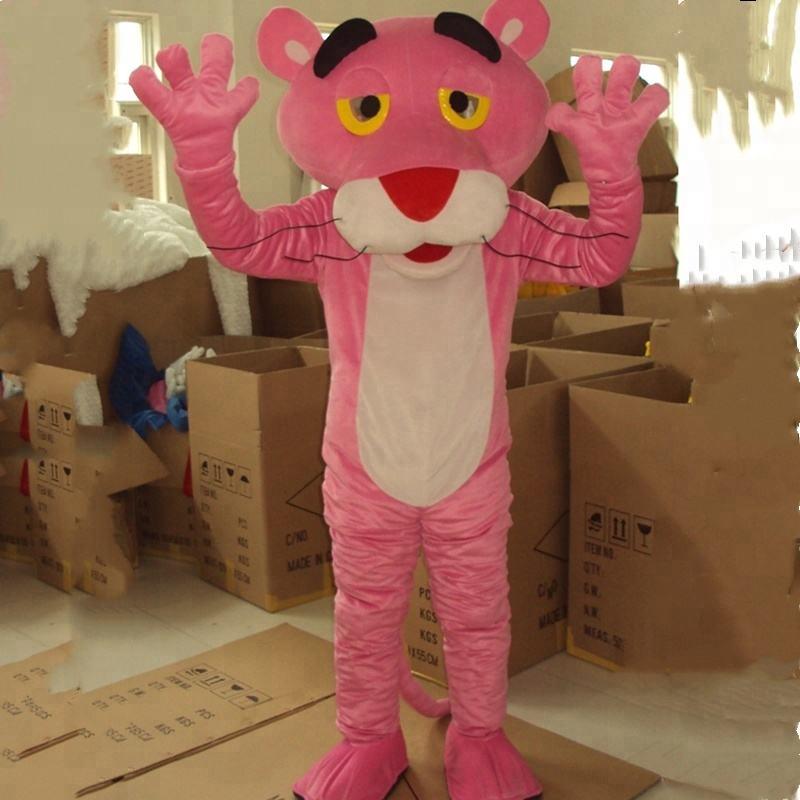 HOLA <span class=keywords><strong>pantera</strong></span> cor de rosa do traje da mascote para festa divertida