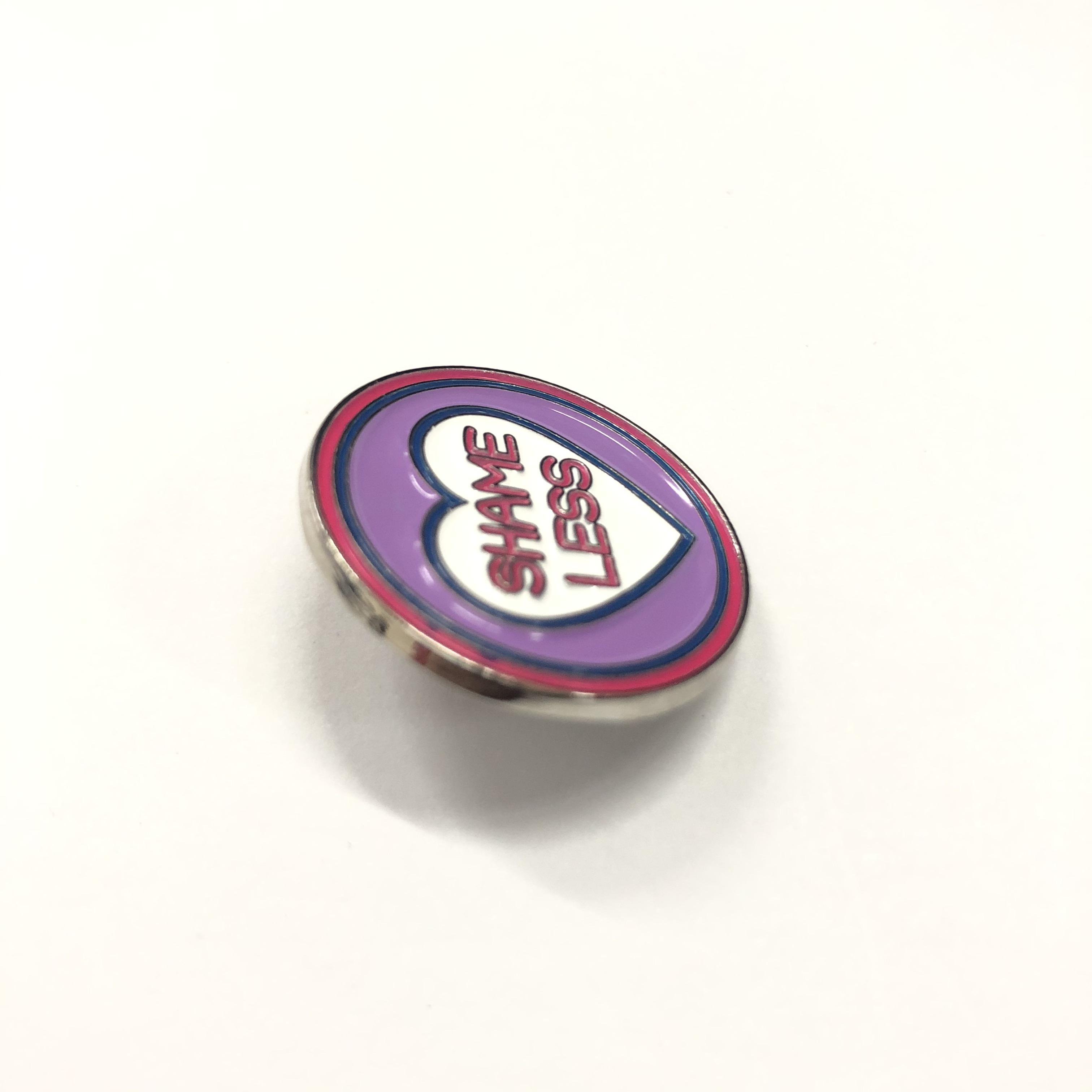Customized zinc alloy painted-dry lapel pin for organization for gift