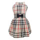 Dog Dress Luxury Pet Clothes Summer Apparel Designer Plaid Clothes for Small Dogs 2020 Wholesale