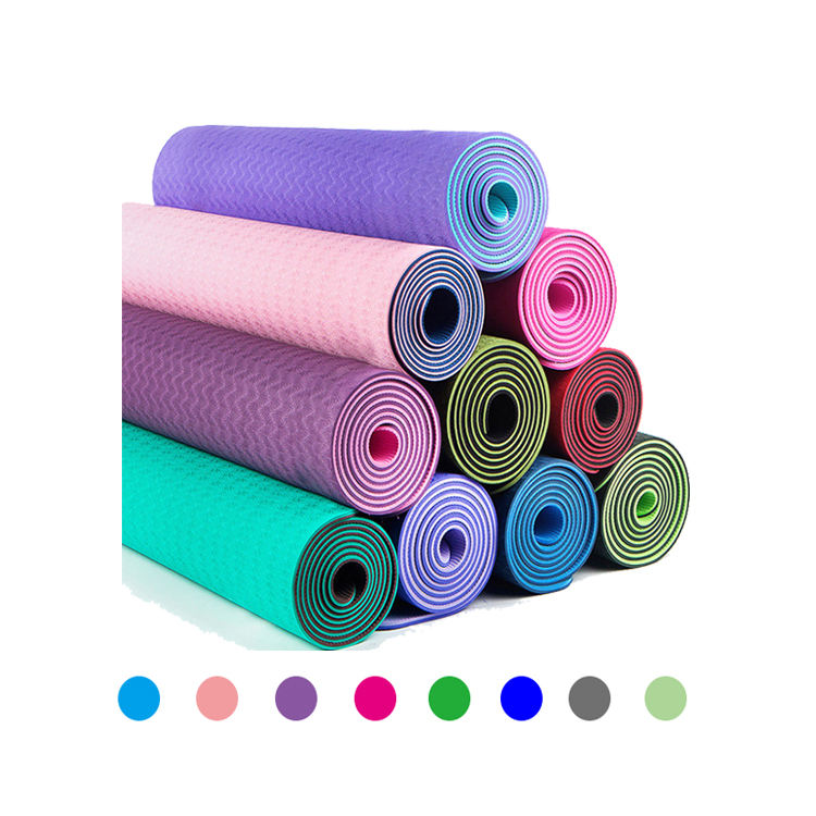 Memory Foam Patroon Twee Kleur Water Slip Yoga Mat Tas 3Mm Instructie Badstof Breed Grote Align Yoga Mat