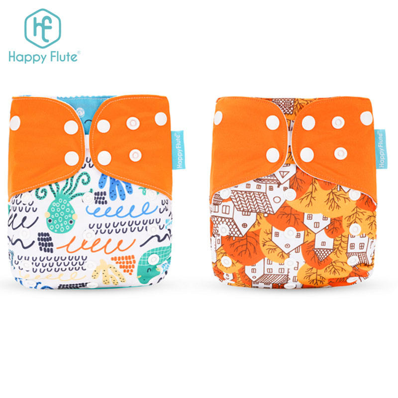 Happyflute New Design Cute Fashion Prints Baby Cloth Diapers Pants Reusable Washable Nappy