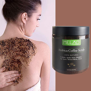 Organic Cellulite Exfoliator Dead Sea Salt Anti-Acne Wrinkles Vitamin C E Natural Moisturizing Coffee Exfoliating Body Scrub