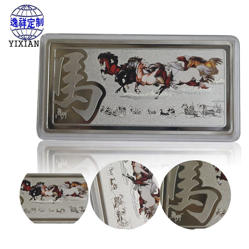 3D grabado estampado de plata conmemorativo de metal de <span class=keywords><strong>bronce</strong></span> de monedas para la venta