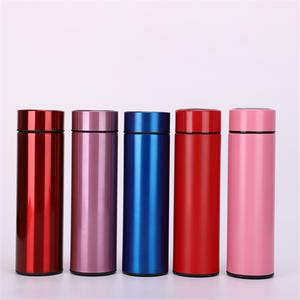 Grosir Stainless Steel Double Wall Termos Vacuum Insulated Teh Flask Piala Termal Kurus Tumbler dengan LED Layar Sentuh