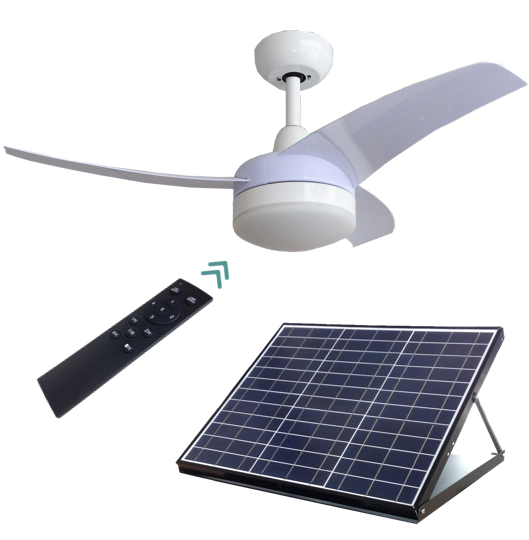 Sunny 42inch 40W Black or White Solar Powered Ceiling Cool Fan with LED light