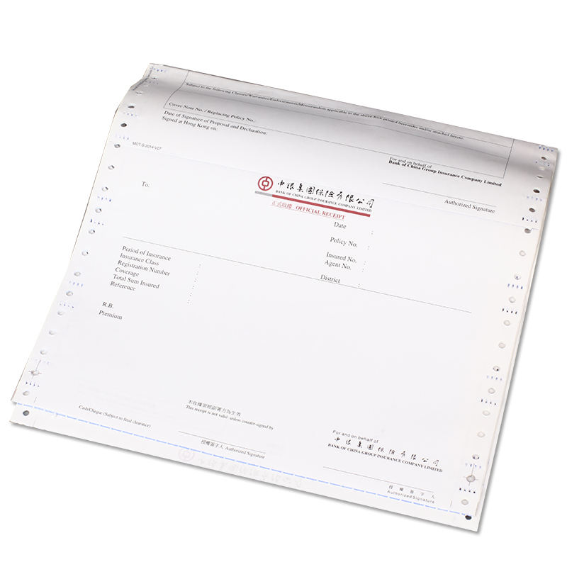 Juncheng Supplier Wholesale Quality Guaranteed Continuous Business Forms Paper Computer Printer Paper