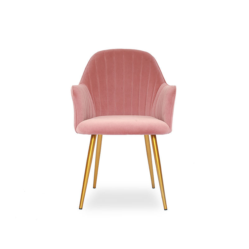 laynsino french pink Velvet Upholstered modern dining room chair for restaurant,french luxury dining chair