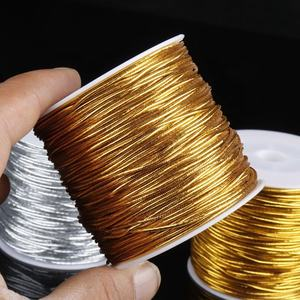Custom Gold Elastic String,Metallic Gold Elastic Cord with Best Quality