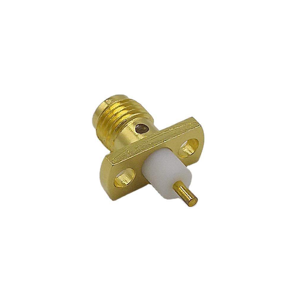 baili SMA female clamp for Micro-strip with flange gold plated RF coaxial Connector