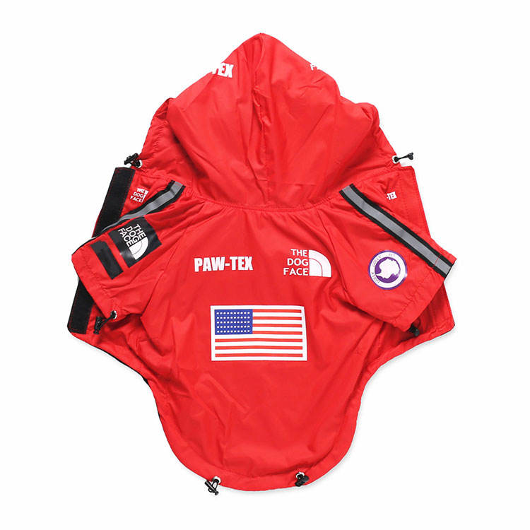 Large dogs waterproof USA flag dog clothes raincoat