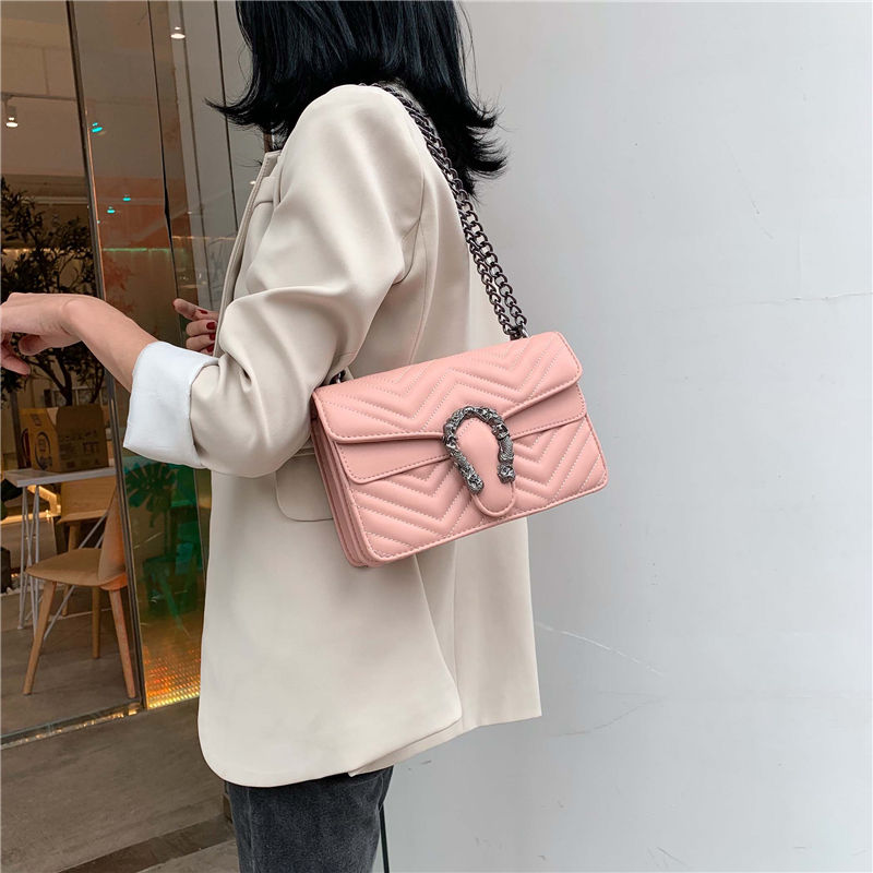 Genuine Leather Chevron Shoulder Bag Top Quality Women Luxury Handbags Designer Purse Brand Caviar Chain Bag Crossbody Bags