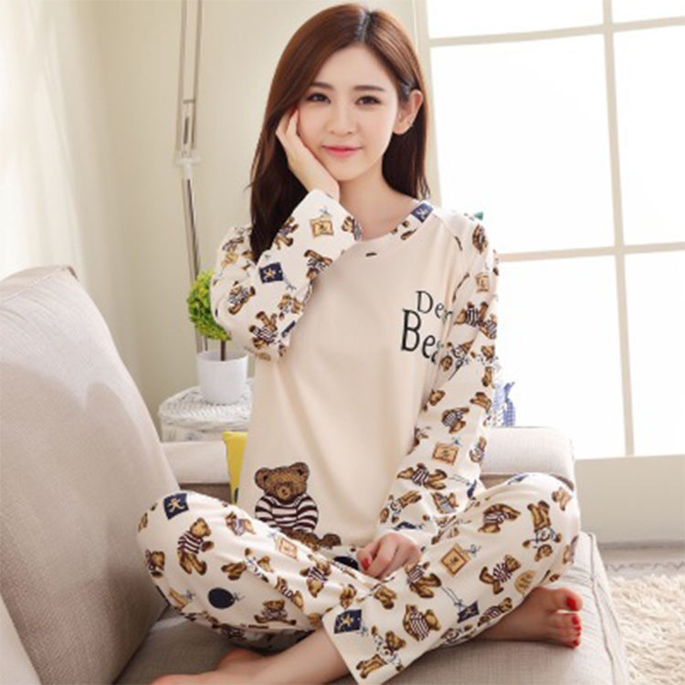 Wholesale new design Long Sleeve New Fashion women's clothing pajamas Suit Sleepwear Lady Nightwear Sets Pajamas