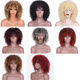 Black Women Afro Short Kinky Deep Jerry Curl Curly Wig Bob Kinky Curly Synthetic Hair Wigs