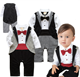 2019 New Baby Boys Clothes In Spring And Autumn baby clothing Cotton Romper Gentleman Bow Tie Jumper Long Sleeve Baby Clothing