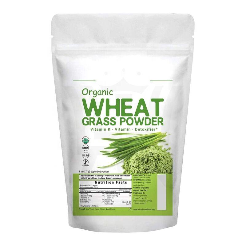 Organic wheat grass Juice Powder Freeze Dried & Cold Pressed Natural Vitamin C Immune Vitamin to Support Immune System