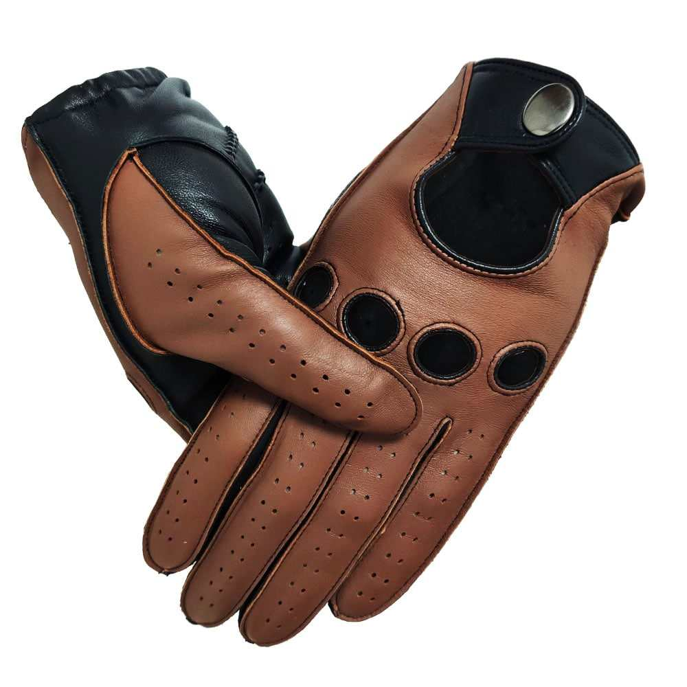 Manufacturer Custom Neutral Fashion Sheepskin Full Finger Unlined Driving Leather Gloves