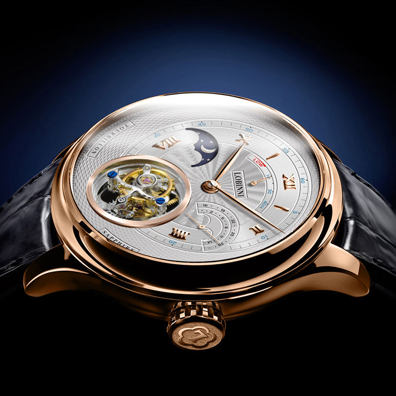 New style LOBINNI flying tourbillon movement watch for men business water resistant skeleton men wrist watch