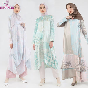 Modern Fashion Muslim Women Embroidered Comfortable Tunic Modest Ladies Tops Islamic Clothing