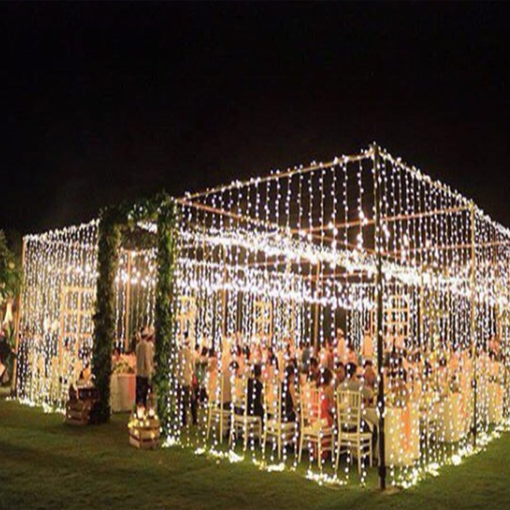 Wedding LED Lights Decoration Snowfall Curtain House Lights