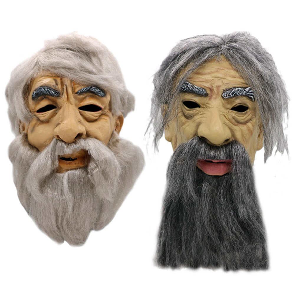 Old Man Latex Face Cover Halloween Costume Party Props