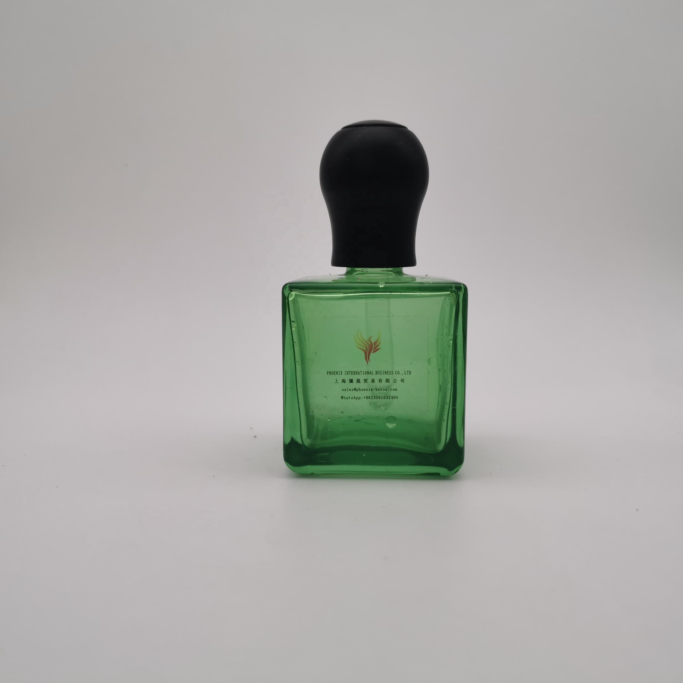 Phoenix pacote 65ml bomba de garrafa de embalagens de spray de vidro transparente frasco de perfume do corpo
