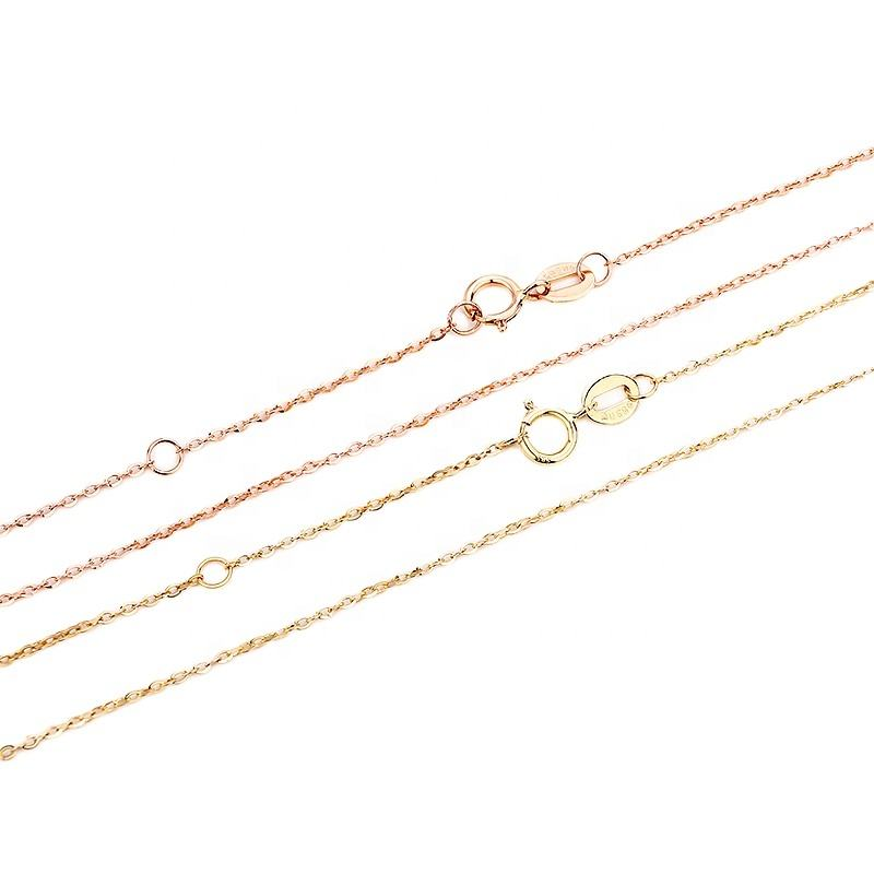 14K Real Gold Chains Necklace Yellow Gold Solid Gold Link Chain