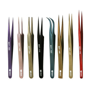 New design stainless steel Mink eyelash extension tweezers professional Volume Eye Lashes Tweezers make up tool eyebrow tweezer