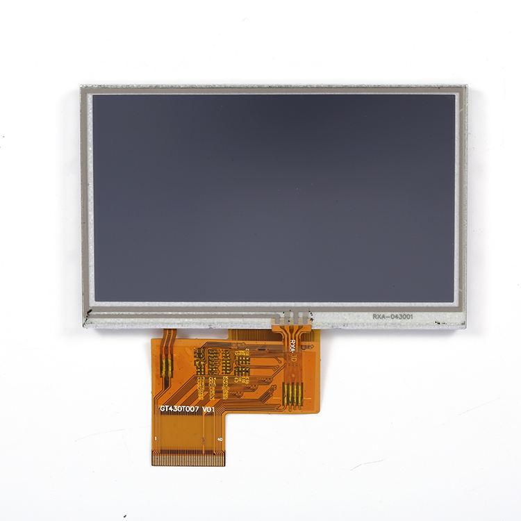 RGB Interface de Exibição 4.3 Polegadas Verdadeiramente Transflec RTP TFT LCD Com resolução de 480x272 módulo de Tela lcd
